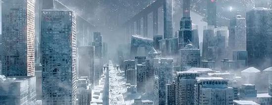 《流浪地球》中冰封的北京