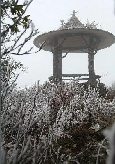 大容山雪景 图:新浪博主/刘国雄