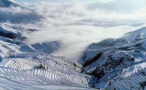 龙脊梯田雪景 图:新浪博主/牧马人