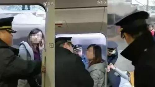 女子扒高铁车门的视频火了!反问记者:我有错吗