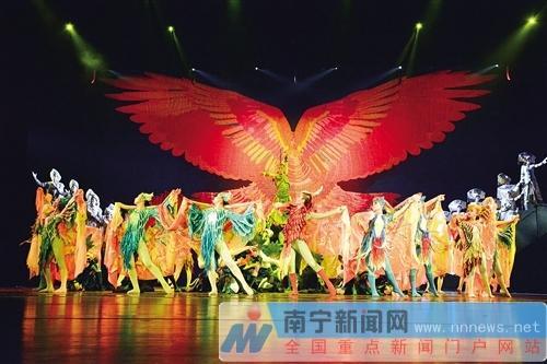 舞剧《百鸟衣》昨晚在广西文化艺术中心上演 记者 李宗文  摄