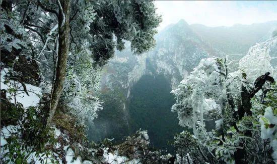 乐业天坑群雪景 图:新浪博主/幸鹏