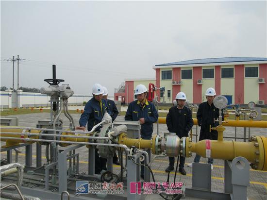 广西天然气支线管网项目柳江天然气支线管道投产运行