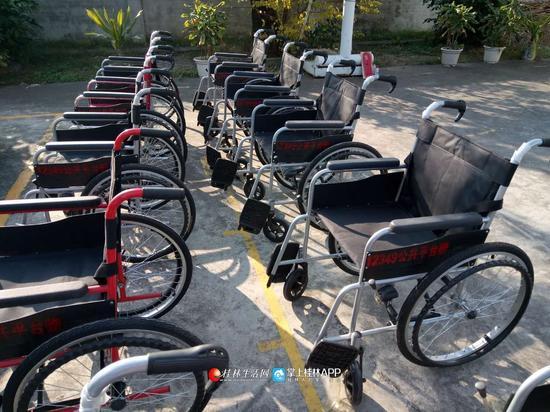 """桂家政公司宣传方案林现首批""""共享轮椅"""" 这些社区的老人有福了"""