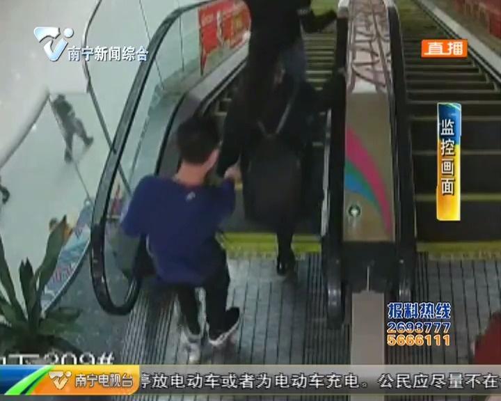 """别把手机放口袋!南宁""""镊子党""""六秒偷手机(视频)"""