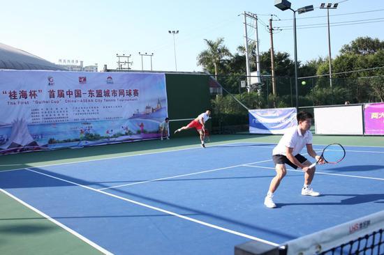 首届中国-东盟城市网球赛精彩瞬间