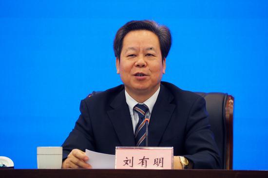 中共崇左市委书记、市人大常委会主任刘有明讲话 周柳盈/摄