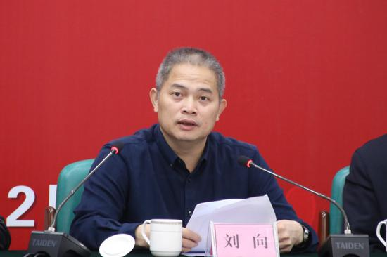 广西大学副校长刘向发言 谭紫芳/摄