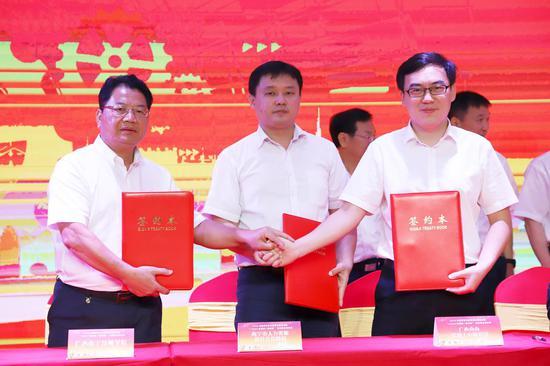 """2020年7月15日,南南铝加工有限公司与广西南宁技师学院签订""""双千结对""""岗位技能培训协议"""