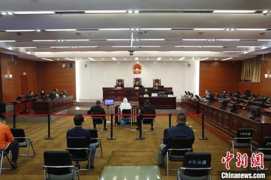 图为庭审现场。广西高院供图