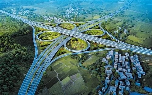 宾阳南枢纽互通效果图 (建设方供图)