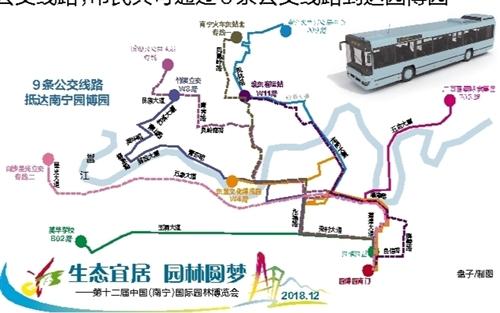 南宁园博园7日正式对公众开放 开通3条专线方便出行