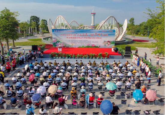 广西贵港市第七届荷花展盛大开幕(图)