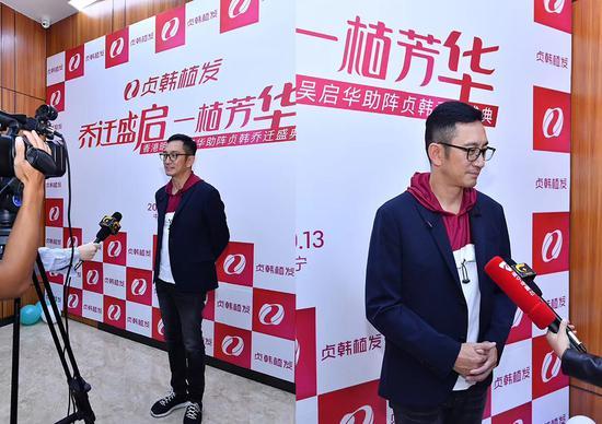 香港知名艺人吴启华接受广西媒体采访
