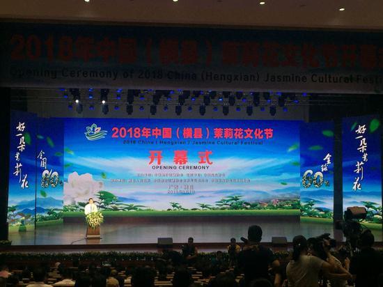 2018年中国(横县)茉莉花文化节隆重开幕