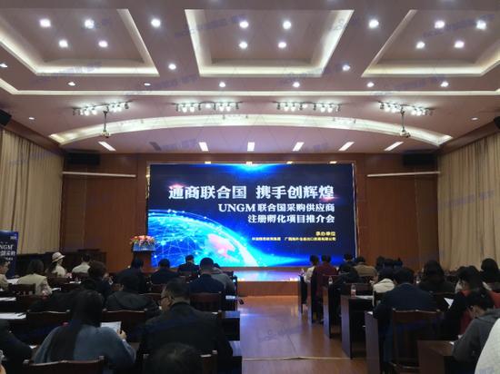 广西UNGM联合国采购供应商注册孵化项目推介会成功举办