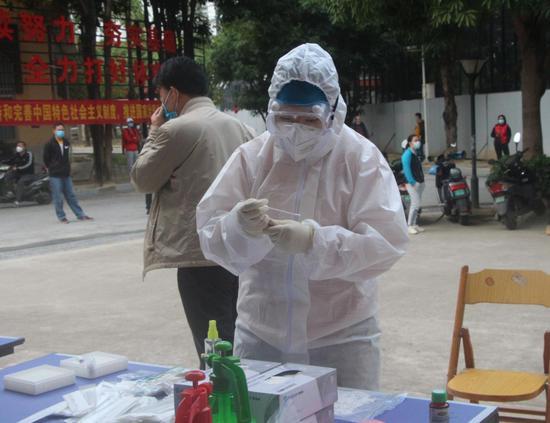 防疫复工两不误——青秀山训练基地组织开展新冠病毒核酸检验采样工作