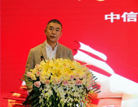 中信银行南宁分行副行长戴文在发布会上致辞