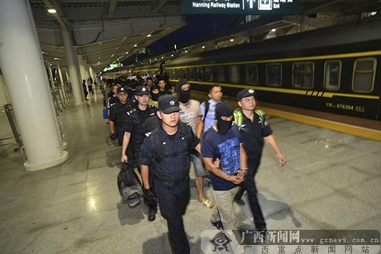 抓获犯罪嫌疑人。广西新闻网通讯员韦强 摄