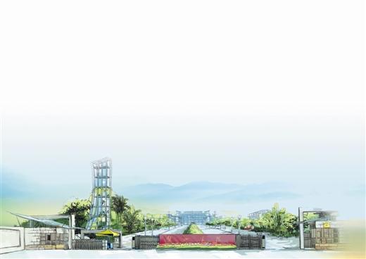 校园风景手绘图