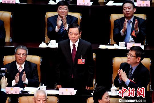 图为李克当选广西人大常委会副主任。 胡雁 摄