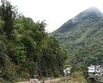阳朔至兴安二级公路发生严重塌方 大型车辆禁止通行