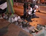 司机饮醉的后驱车 撞崩容县兴容街临时市场