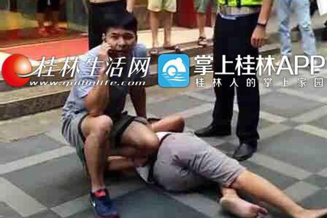 """桂林:为逃抓捕惯偷光脚狂奔 两公里""""长跑""""民警完胜"""