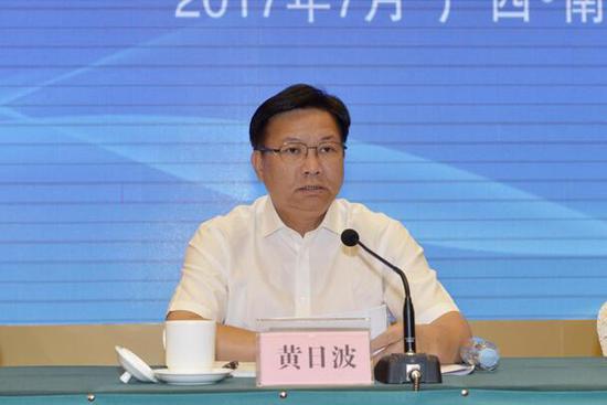 自治区副主席黄日波在会上发表讲话 杨彪/摄