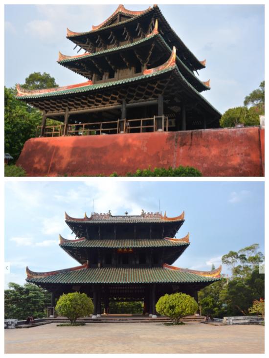 """容县经略台真武阁以独一无二的巧妙结构被誉为""""天南杰构"""""""