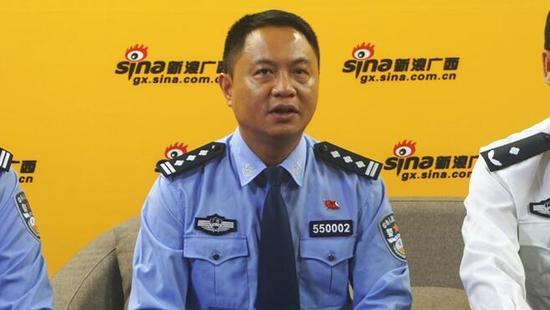 贵港市公安局党委副书记、副局长 莫一格 接受采访
