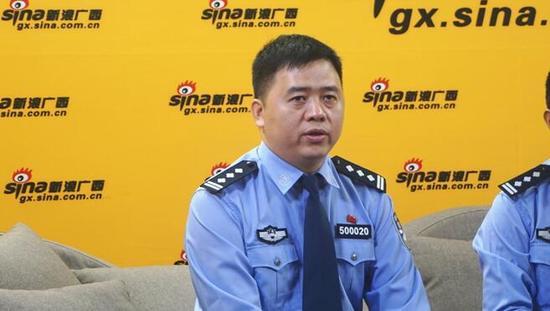 玉林市公安局党委副书记、副局长 陈立安 接受采访
