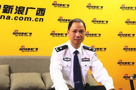 广西公安厅经侦总队副总队长李泽进 接受采访