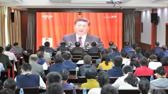 亚洲真人娱乐平台司法厅组织收看十九大开幕会