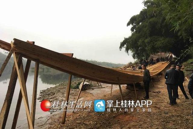 长58米宽1.73米可容纳150余人 广西最长龙舟年底完工