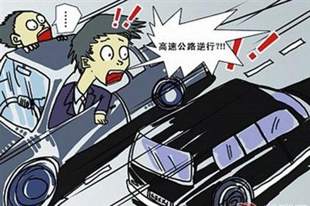 南宁:高速匝道大胆玩逆行 险些惹出事故来