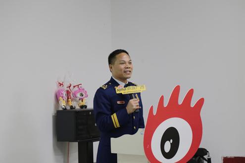 (南宁消防支队政治委员梁长期致辞)