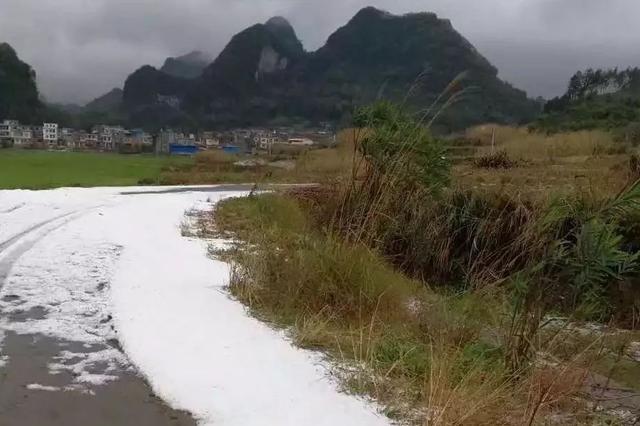 惊了!柳城今天下汤圆大的冰雹 强对流天气又来咯