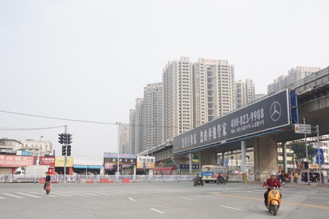 南宁地铁2号线明秀路站道路23日起恢复交通