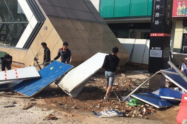 南宁友爱路部分道路恢复通行 排水管交通疏解将施工