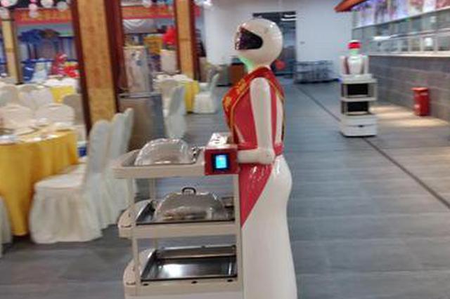 """广西南宁一餐厅拥有20名机器人""""服务员""""(图)"""