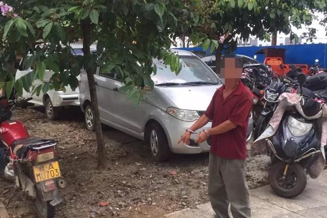 异想天开!摩托车被暂扣 车主竟想溜进交警大队偷车