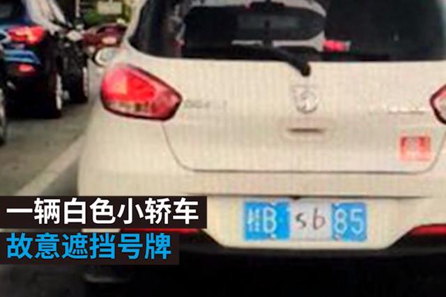 """柳州一车牌贴手写""""SB""""还满街跑 司机被抓""""喊冤"""""""