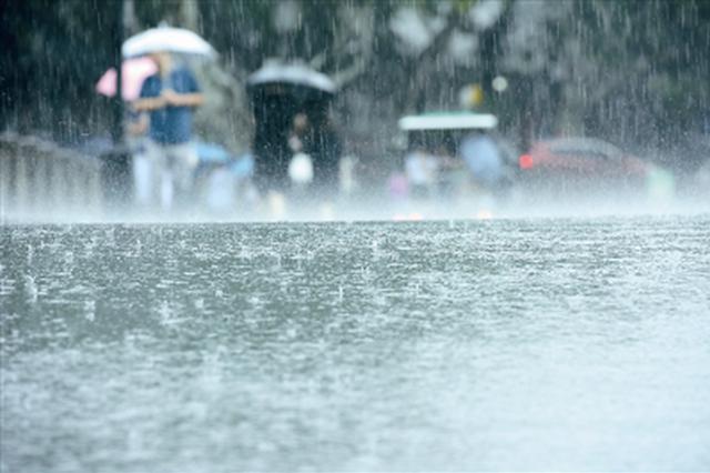 南宁阵雨送来清凉 道路湿滑出行注意安全