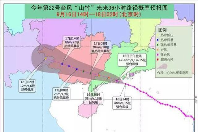 """台风""""山竹""""已致粤桂琼155万人受灾 4人遇难1人失踪"""
