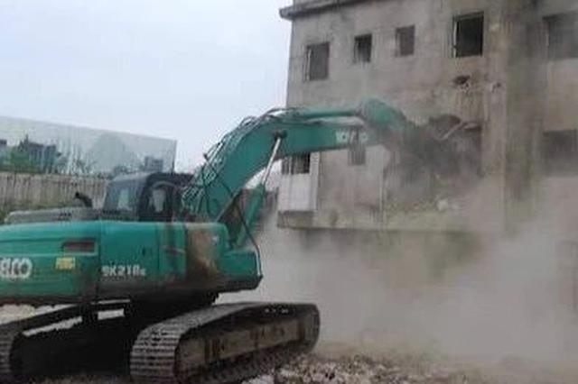 桂林这地方8439.68平方米违建今天被依法拆除
