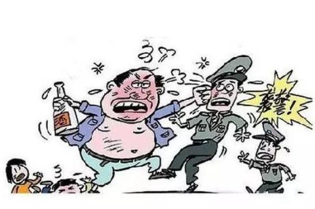 南宁一酒后滋事扰民 还打伤两辅警!已被刑事拘留