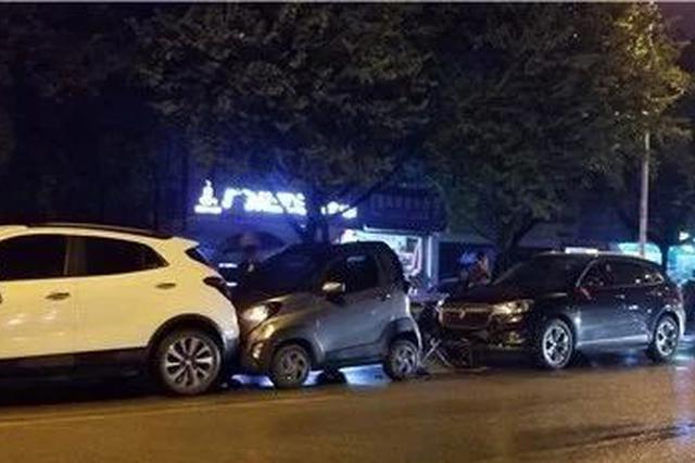 柳州发生六车连撞 1人受伤!好心阿伯帮忙指挥交通