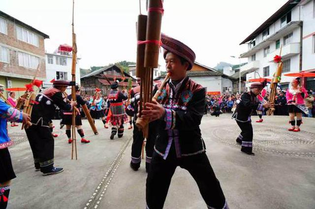 龙胜侗族同胞身着民族盛装 欢度传统侗年