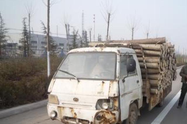 开报废车上路还逃避交警执法 桂林这司机挨了